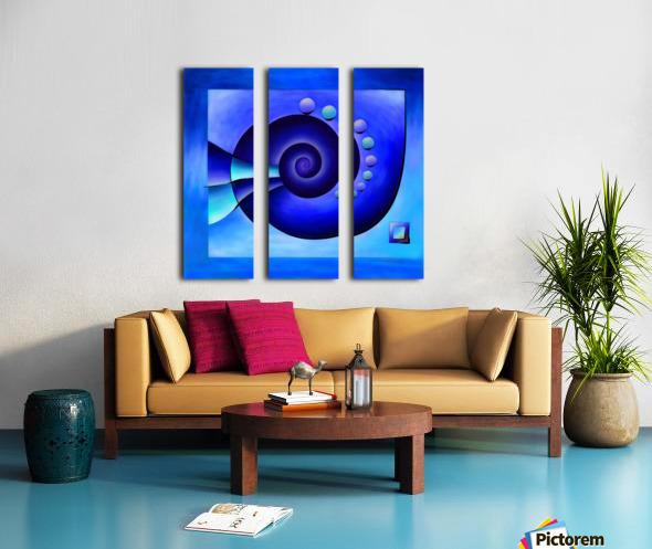 Escanissimera - endlessly limited blue spiral snail Split Canvas print