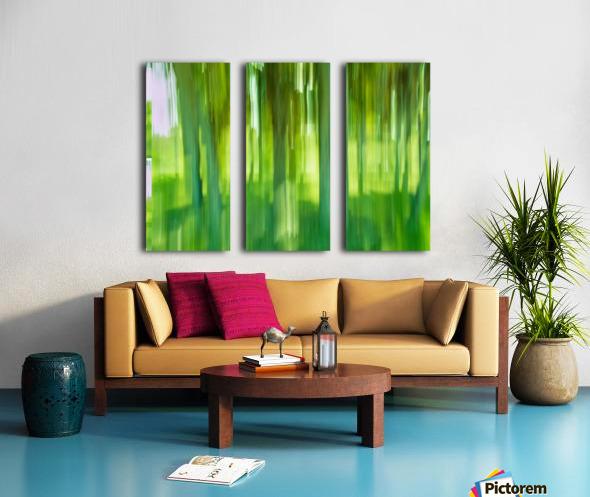Moving Trees 12 Green Landscape 52-70 360px Split Canvas print