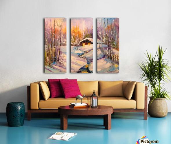 Winter morning Split Canvas print