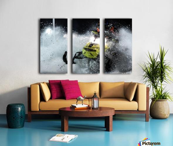 Chez nous c'est Ski-doo  Split Canvas print