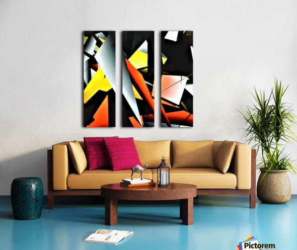 More Shapes -  by Neil Gairn Adams  Split Canvas print