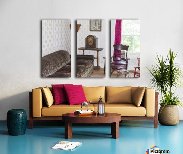1920s living room Split Canvas print