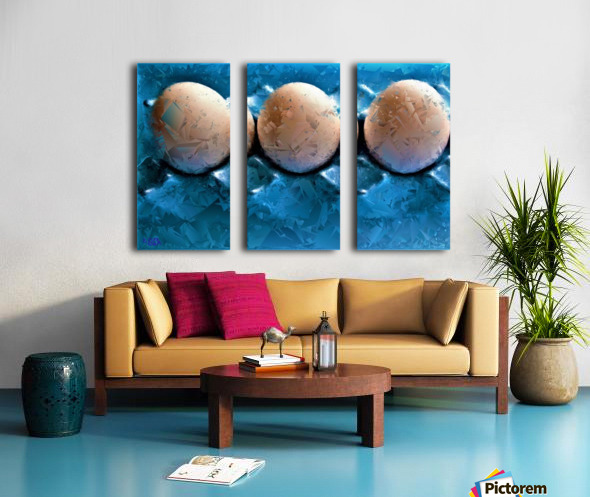 Worlds Most LIKED Eggs  - by Neil Gairn Adams  Split Canvas print