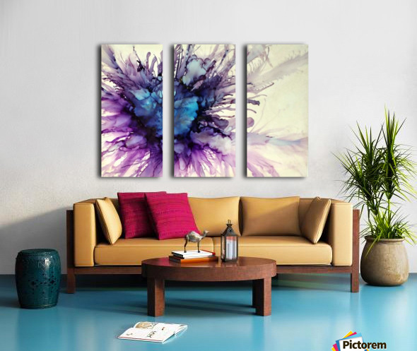 Purple Majesty Split Canvas print
