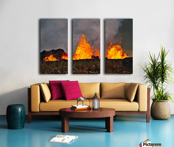 Leilani Estates Lava fountain Split Canvas print