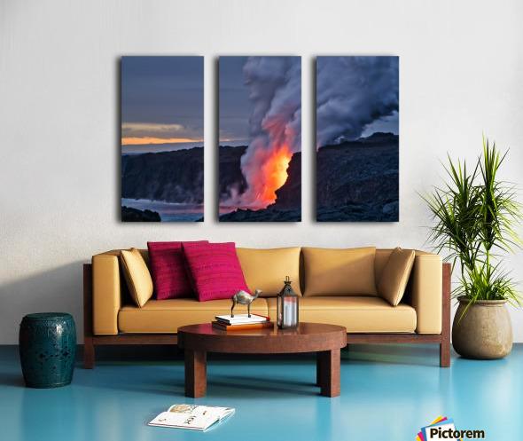 Lava hose Split Canvas print