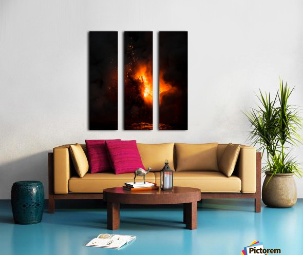 Lava explosion Split Canvas print