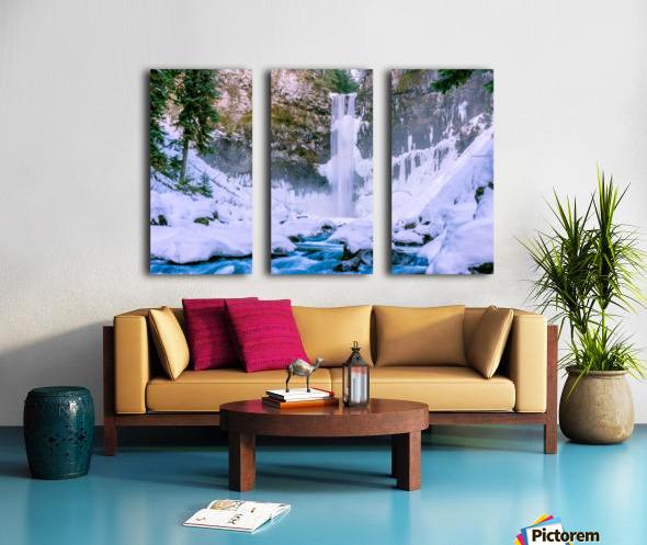 Semi frozen falls Split Canvas print
