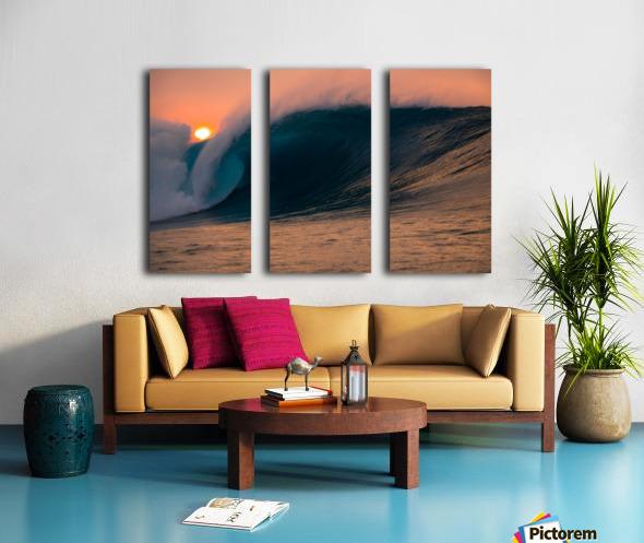 Giant surf Split Canvas print