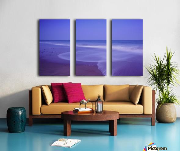 C 636 Ballybrannigan Beach Split Canvas print