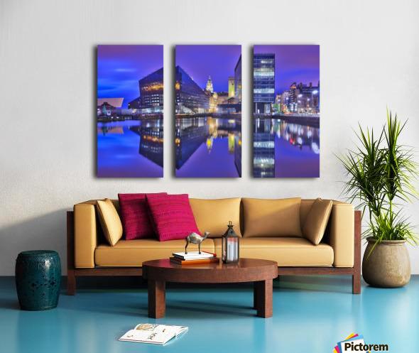 LIV 004 Dock Reflections_1549590972.26 Split Canvas print