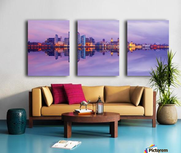 LIV 007 Liverpool Skyline   PANORAMIC_1549590966.45 Split Canvas print