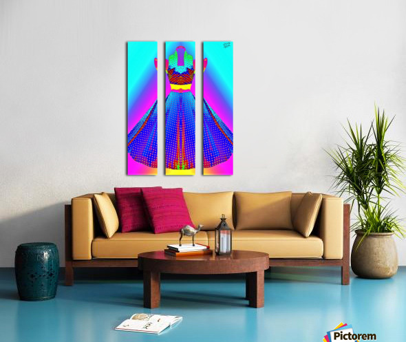 The Dress  -  by Neil Gairn Adams Split Canvas print