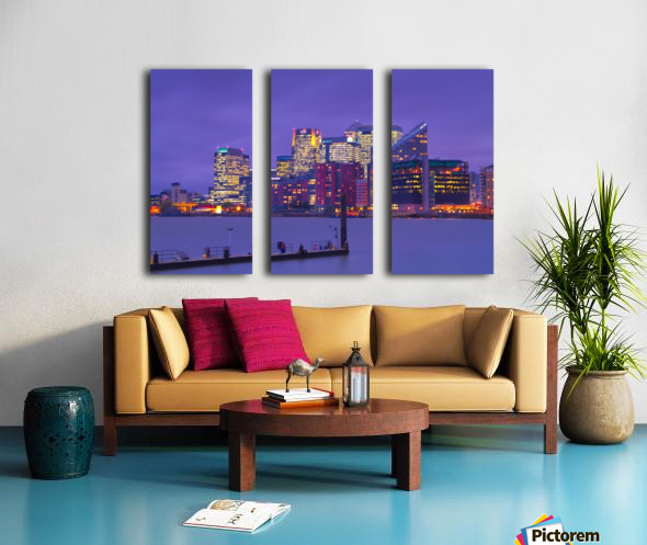 LON 007 Canary Wharf  Split Canvas print