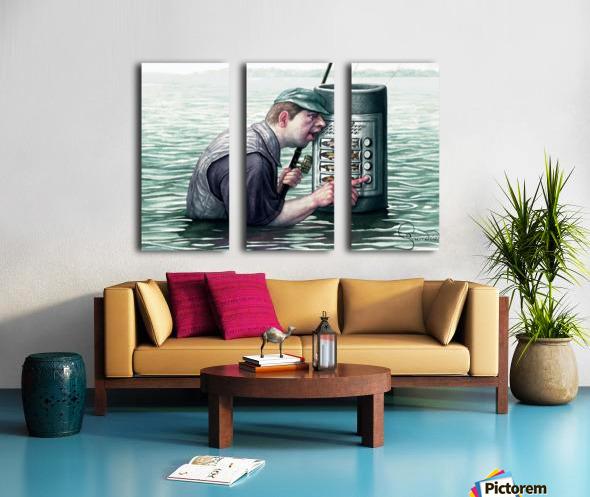 Call for fish by Krzysztof Grzondziel Split Canvas print