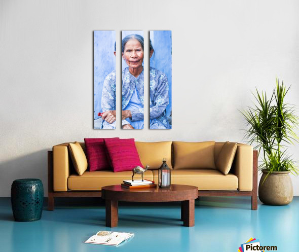 THE BLUE LADY OF HOI AN Split Canvas print