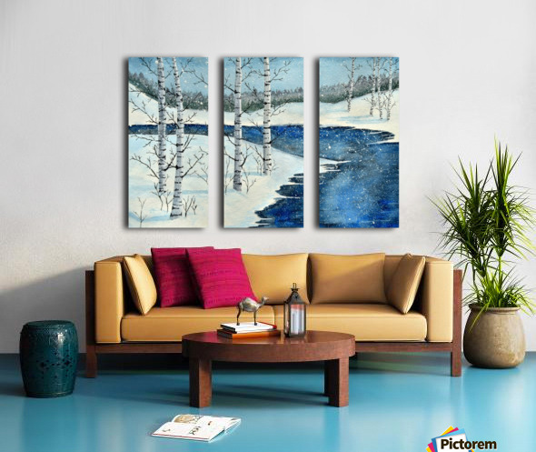 Winter Blues Split Canvas print