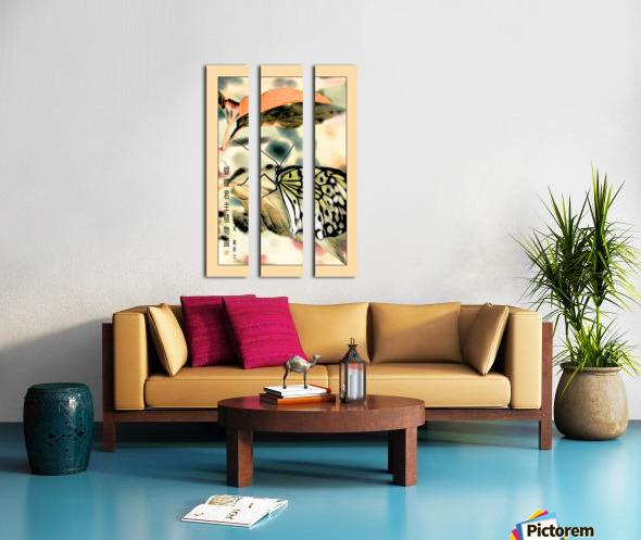 Papillon chinois  Split Canvas print