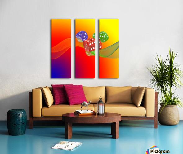Dice 2 Split Canvas print