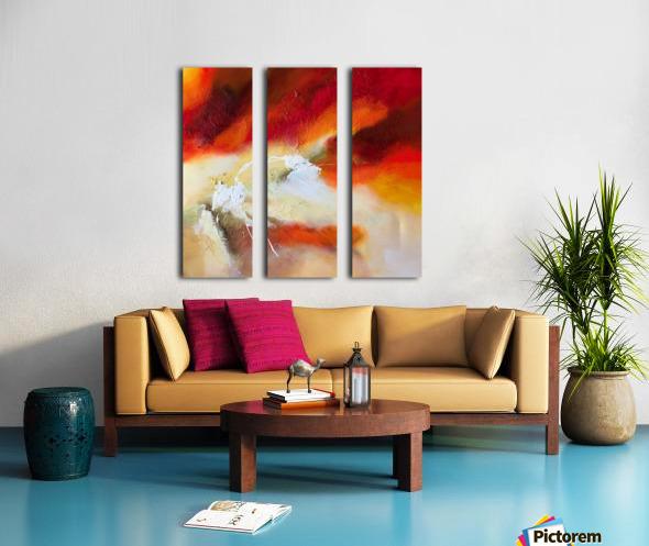 Feeling the heat Split Canvas print