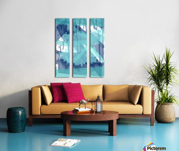 WATERCOLOR_BLUE ABSTRACKT Split Canvas print