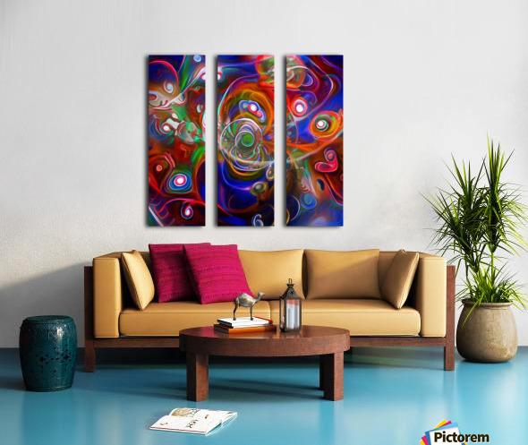 Vortex of Colors Split Canvas print