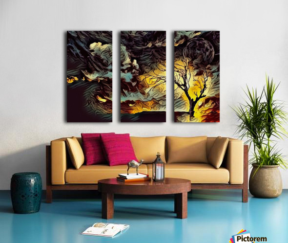 Lonely Tree Split Canvas print