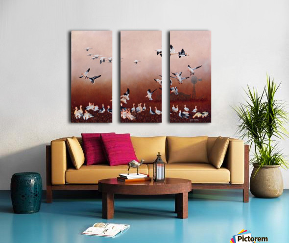 Snow Geese Split Canvas print
