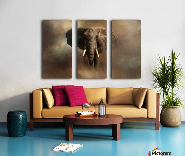 African Elephant Split Canvas print