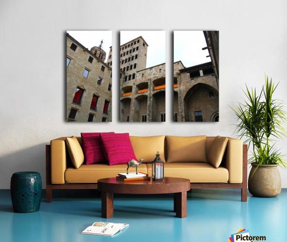 Barcelona Gothic Quarter Split Canvas print