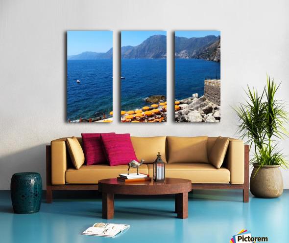 Praiano Beach - Amalfi Coast Split Canvas print