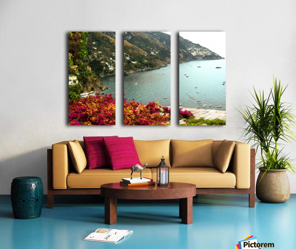 Amalfi Coast landscape  Split Canvas print
