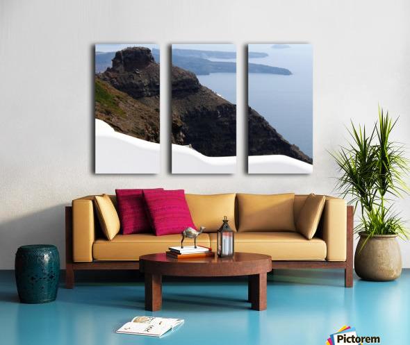 Skaros Rock - Santorini Split Canvas print