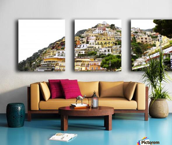 Italy Landscape - Positano Split Canvas print