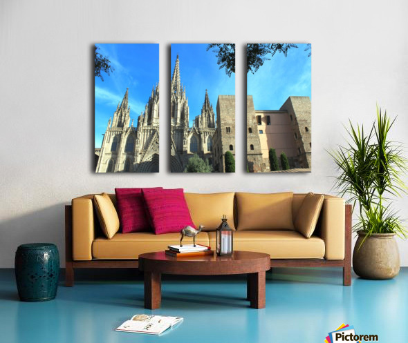 Amazing Barcelona Cathedral Split Canvas print