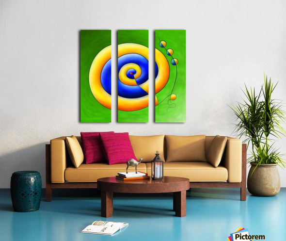 Neosmirana - running space snail Split Canvas print