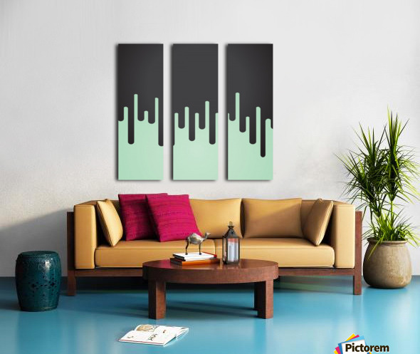 Pista Melting Tone Split Canvas print