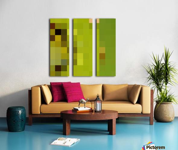 KIWI MOSAIC PATTERN Split Canvas print