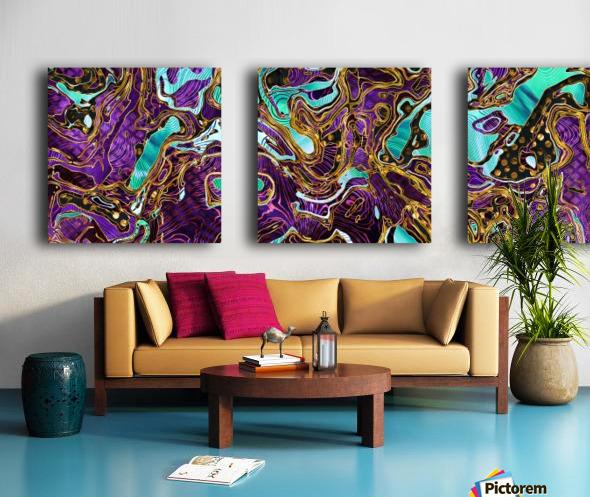 Pattern LXXVIII   II   Panoramic Split Canvas print