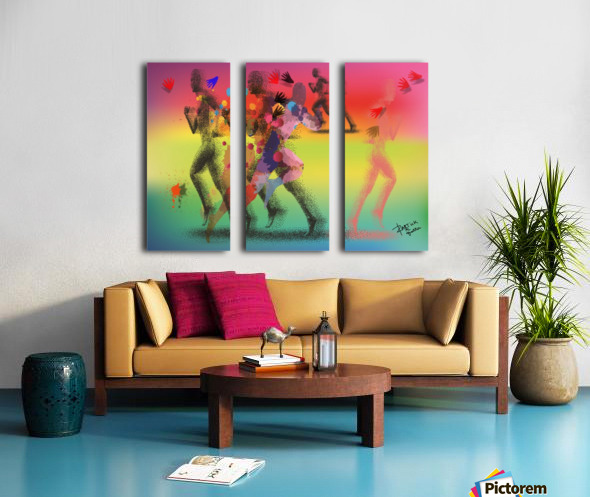 Run of mind  Split Canvas print