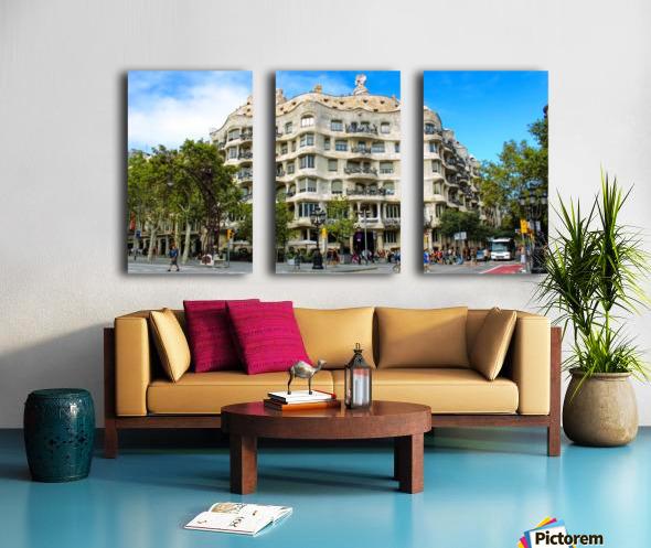 Spain Landscape - Casa Battlo   Split Canvas print