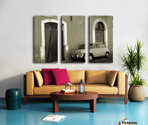 Vintage Car in Black and White Split Canvas print