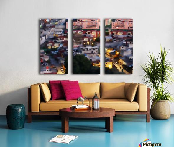 Town rendering Split Canvas print