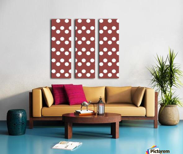 Chili Oil Polka Dots Split Canvas print
