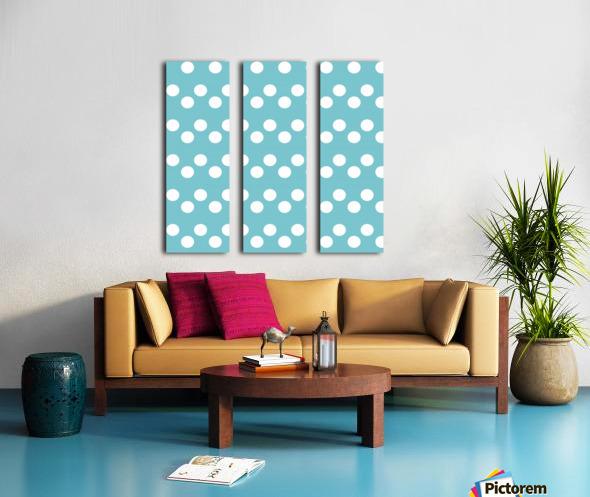CADET BLUE Polka Dots Split Canvas print