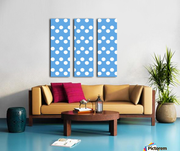 CORNFLOWER Polka Dots Split Canvas print