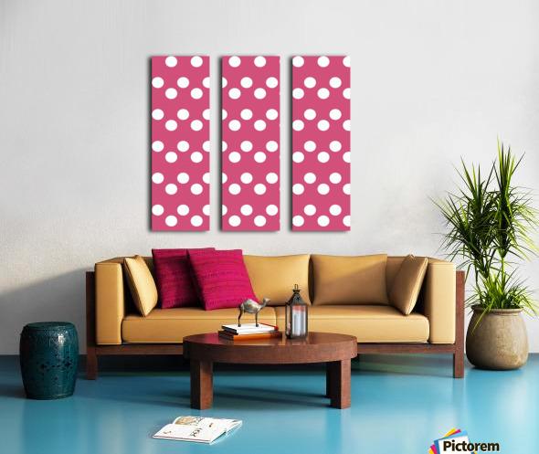 CRANBERRY Polka Dots Split Canvas print