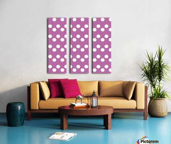Bodacious Polka Dots Split Canvas print