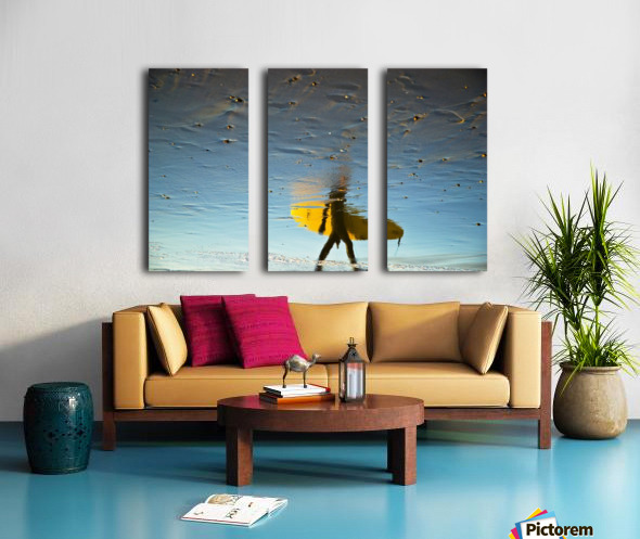 YELLOW SURFER Split Canvas print