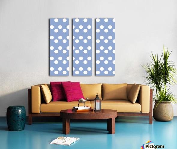 Serenity Polka Dots Split Canvas print